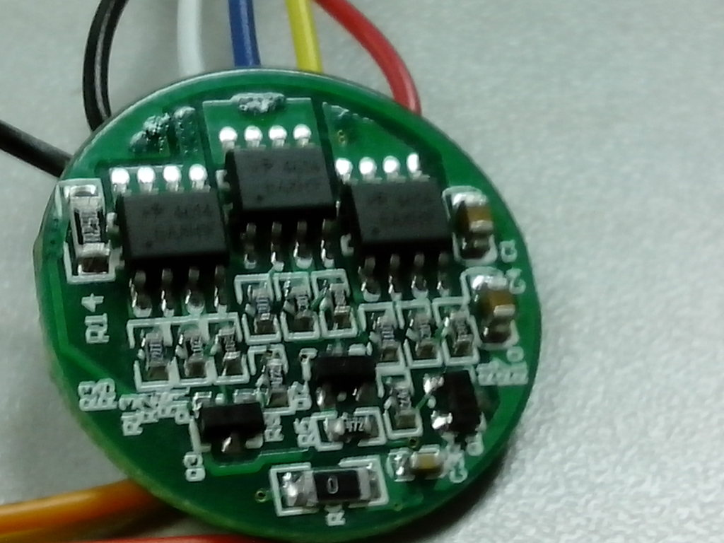 12V 6W low-power three-phase brushless motor controller with Hall Instruments Motor Driver