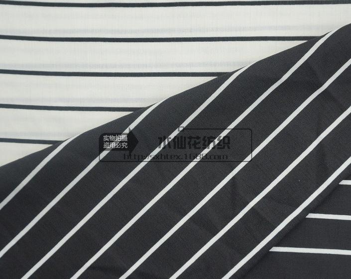 Vải sọc trắng đen thời trang nữ chuyên dùng