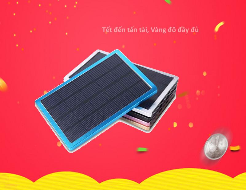 Sạc di động năng lượng mặt trời 10.000 mAh siêu mỏng, công suất 3W