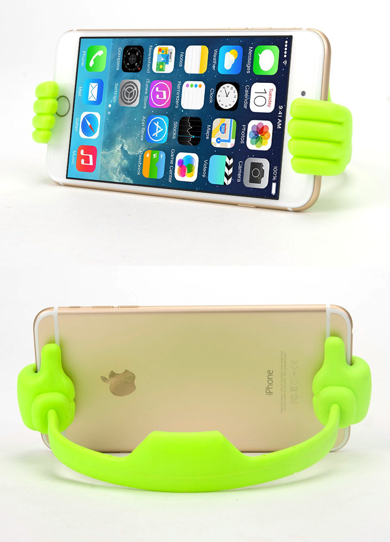 phụ kiện chống lưng điện thoại  Wholesale New creative thumb flat palm phone holder stand universal