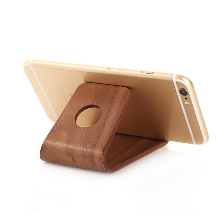 phụ kiện chống lưng điện thoại  samdi phone wood phone holder universal bracket lazy phone holder m