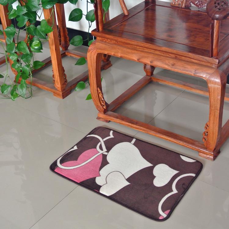Thảm nhung chùi chân không trơn trượt dùng trong phòng khách, phòng ngủ, phòng tắm