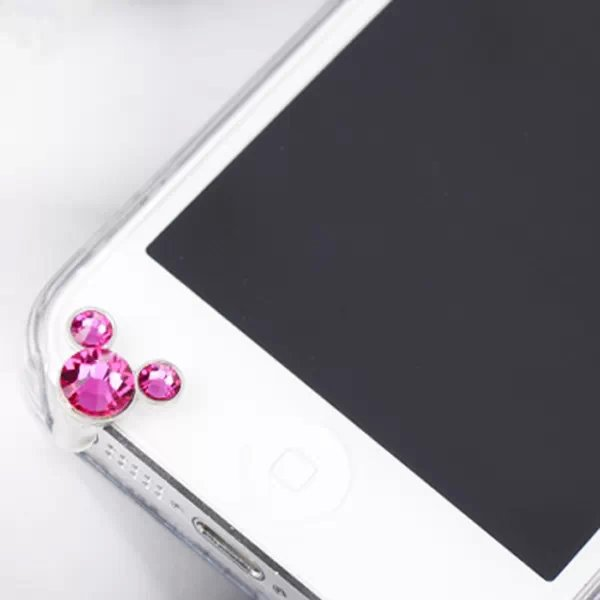 Crystal Apple phone dust plug diamond iphone6 cartoon dust plug headphones plug apple 5 Crystal