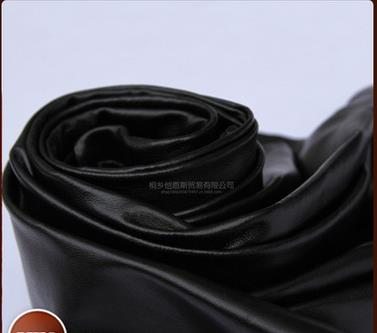 Da dê   Haining factory direct black sheep skin leather leather leather fabric material wholesale cl