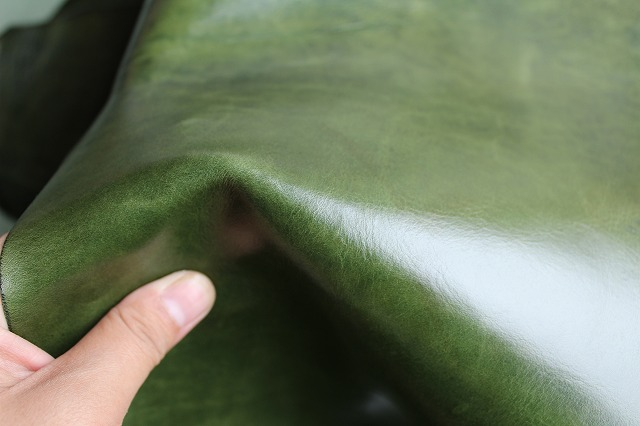 Imports green oil wax coating cowhide remnants level cowhide cowhide material manual diy dermis Pi L