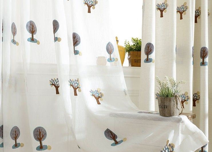 Vải Hemp ( Ramie)  The 15 year explosion small towel embroidery curtain cloth cotton gauze curtain