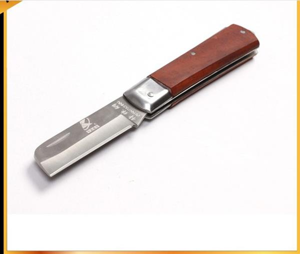 Kraft Will mahogany straight blade knife professional electrician electrical maintenance tool J Hand
