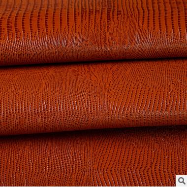 Da bò   Factory direct high-quality cow leather lizard pattern the first layer of leather fashion ho