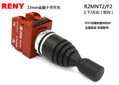 Công tắc điện  Taiwan leili RENY cross command switch R2MNT2 two-way since the reset switch series