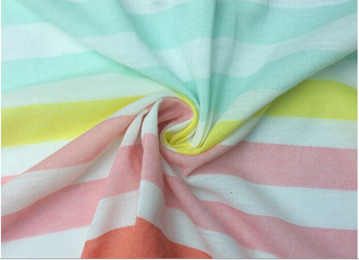 Vải Jersey  Manufacturers selling high-quality color stripe fabric pilling polyester knitted jersey