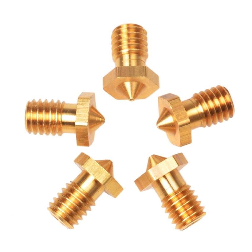 Copper Color 5PCS E3D Printer Accessory 1.75mm Brass Nozzle 0.3mm Precision (Intl)
