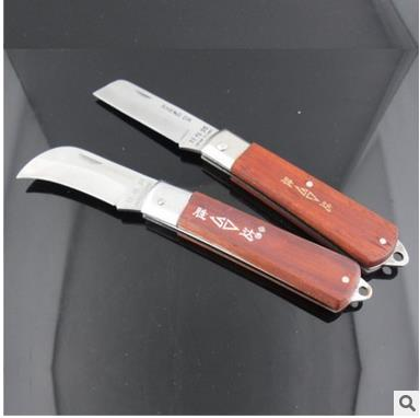 Dao thợ điện Shengda tool [steel] wooden handle electrician knife stripping knife telecommunications