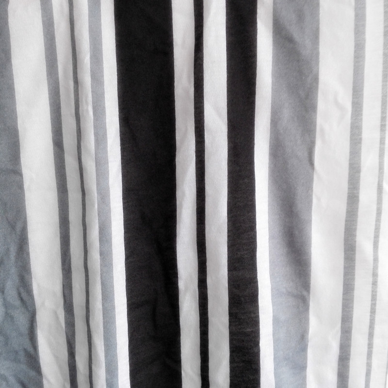 Vải Jersey  Wholesale custom knitted polyester staple fiber polyester fabric printed jersey striped