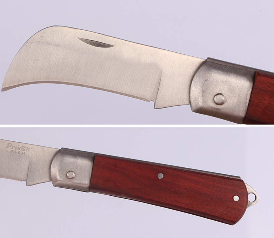 Dao thợ điện  Taiwan Po workers PD-994 stainless steel electric knife skinning knife multifunctiona