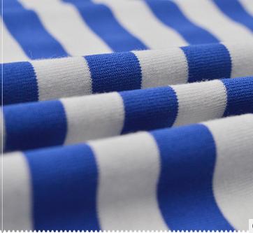 Vải Jersey  topcool functional fabrics sided TR spandex yarn-dyed stretch jersey T-shirt striped kn
