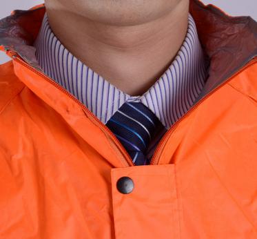 Trang phục chống cháy Rainsuit double orange split work clothes rain luminous reflective fire sanita