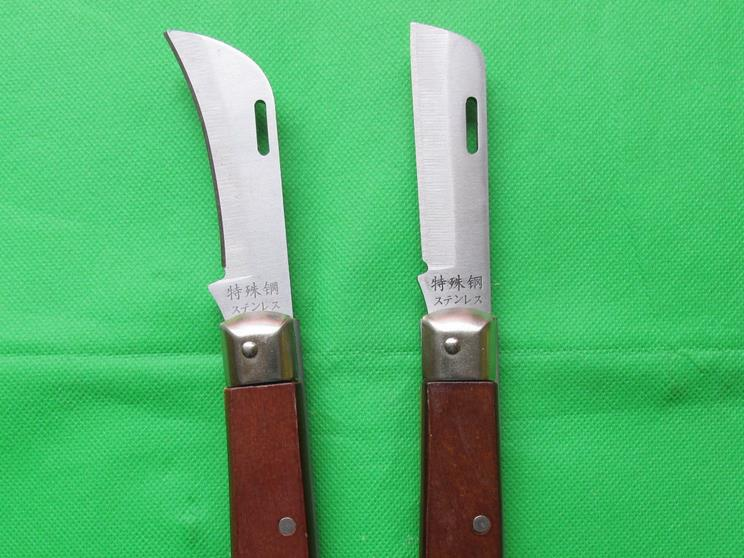 Wholesale curved blade electric knife wooden handle peak Shanghai Advanced straight edge electrician