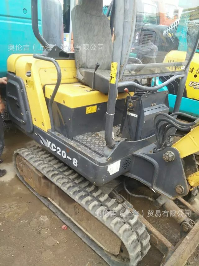 Máy đào đất  Used Yuchai excavators digging Yuchai 20-8 used mini excavators