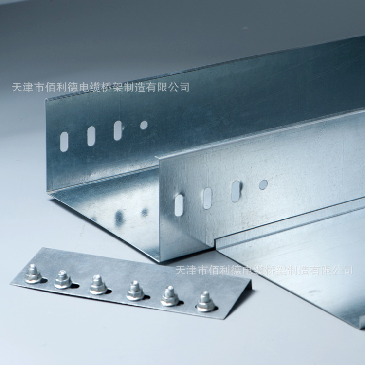 Xà gồ  Factory direct cable tray trough galvanized metal tray iron trough 200 * 100 * 1.2 Quality As