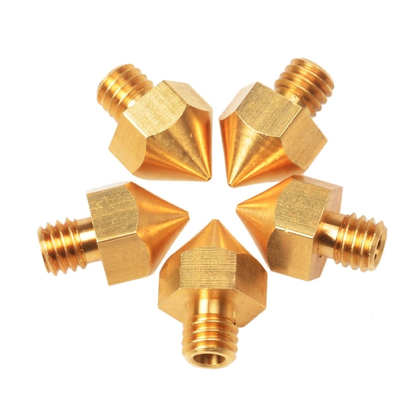 5PCS 3D Printer Accessory 3mm Brass Nozzle for Ultimaker 0.3mm Precision (Intl)