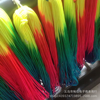 đai dệt Spot 32 colorful gradient colorful nylon rope braided rope jewelry seven-core umbrella rope
