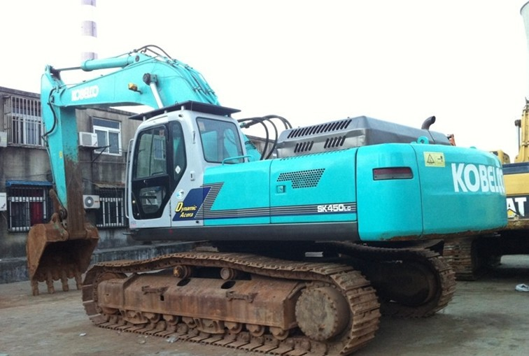 Máy đào đất   Kobelco 450 excavator, digging machine Shanghai market, used excavators. Earthmoving