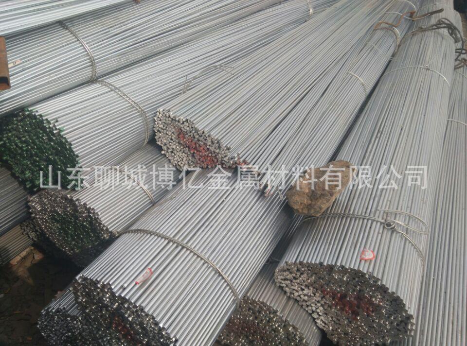 Spot offers Laiwu Steel Q345A / b / c / d mine round Cape circle diameter galvanized steel bar 16 in
