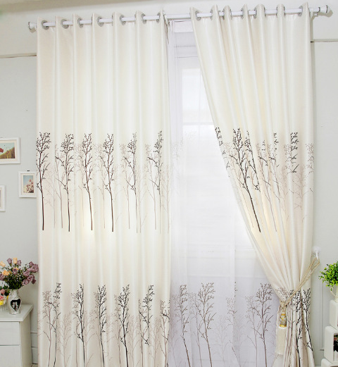 Sợi Fancy   Pachira living room curtains wholesale printing white cloth white cloth supply