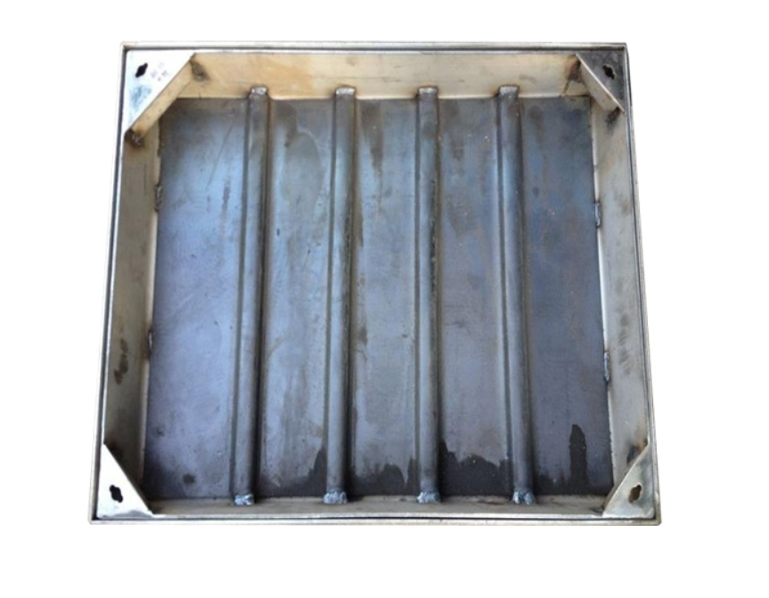 Sewer system power communication 304 stainless steel edging Invisible square manhole covers 800 * 80