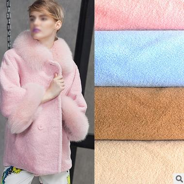 Da dê Bai Xin Hao winter clothing fabrics artificial imitation wool cashmere imitation wool plush fa