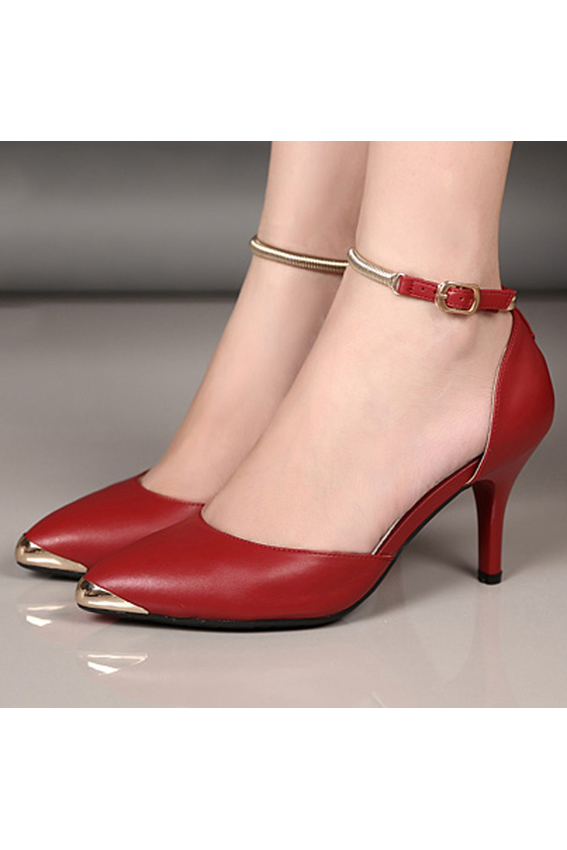 Giày cao gót VNXK CG99 (Đỏ)