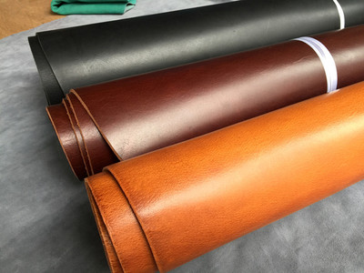 Da bò   Italian vegetable tanned leather first layer of 3.5-4.0 thick paste tree lamb leather oil wa