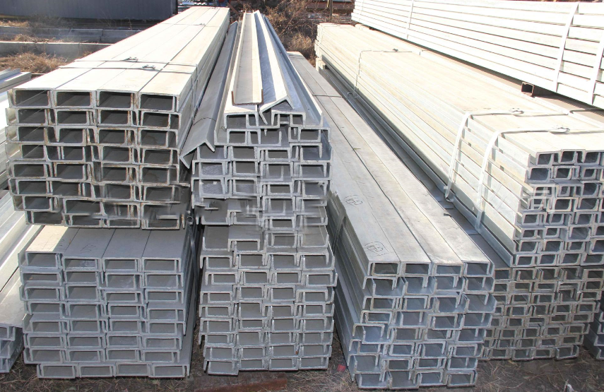 Foshan music from hot-dip galvanized steel profiles Q235 channel steel plant construction site to bu