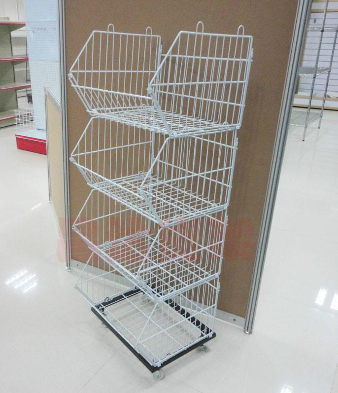 Shenzhen supermarket shelves plant Radix beveled bread basket shelf shelving shelves special offer f