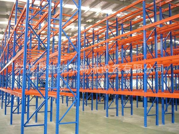 Kệ hàng   Ningbo factory direct heavy shelf storage shelves four galvanized sheet-through warehouse