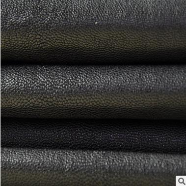 Da dê Dongguan factory direct first layer of vegetable tanned sheepskin black green vegetable tanned