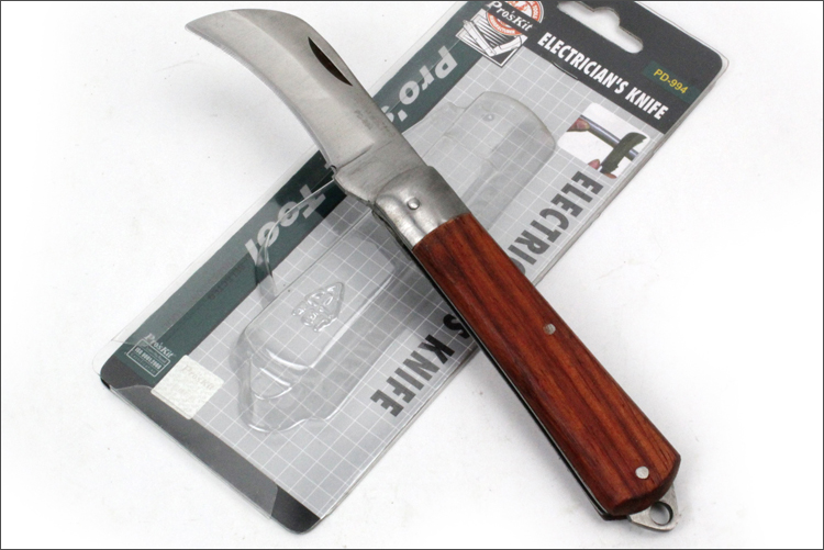 Taiwan Po workers PD-994 genuine original stainless steel electrician knife with wooden handle knife