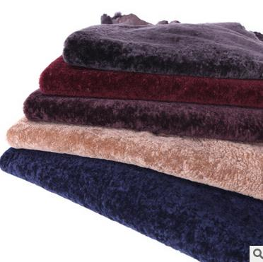 Da dê    [Pa] water ripples Mongolian lamb fur wool sheep-shorn wool fabric soft real cost-effective