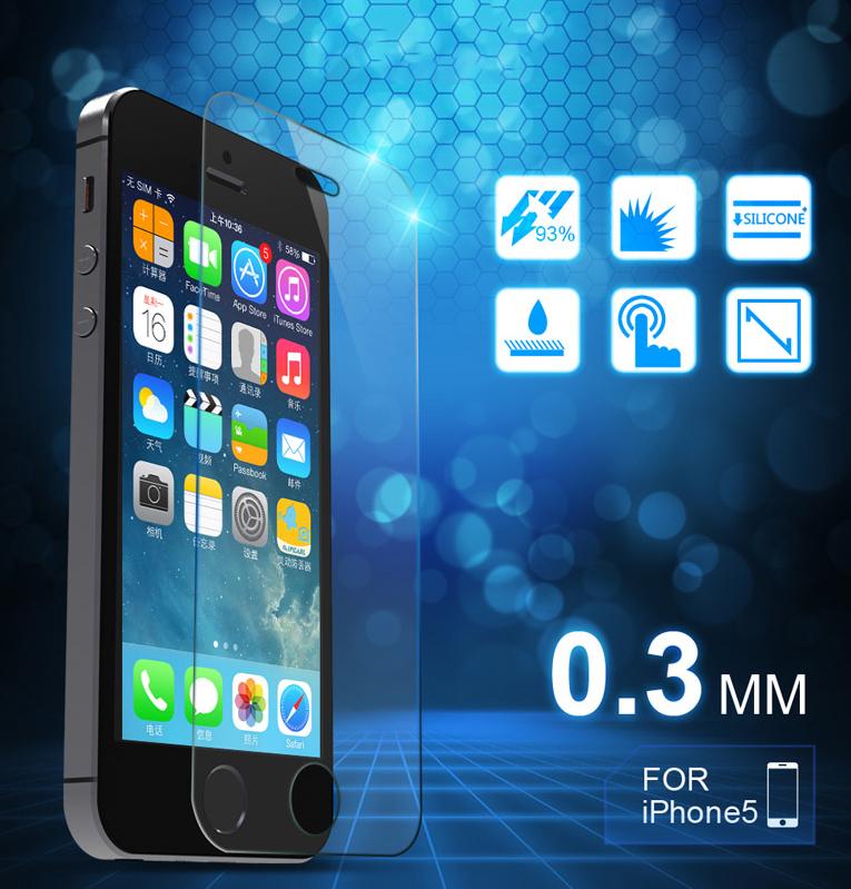 Miếng dán cường lực  iphone6 6plus steel membrane Apple 5S glass film explosion-proof membrane cell