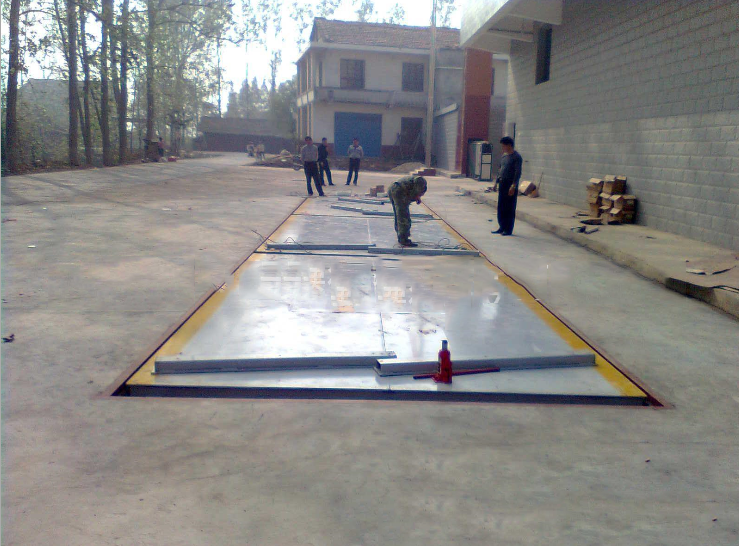 Car scale 3*16m ex factory price Chaoyang 80t electronic floor scale digital anti cheat truck scale