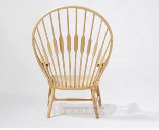 Ghế gỗ kiểu dáng đuôi công