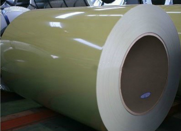 Wuhan Iron and Steel color coated paper coated polyester painted steel 0.376 * 1250mm Tianjin Xinyu