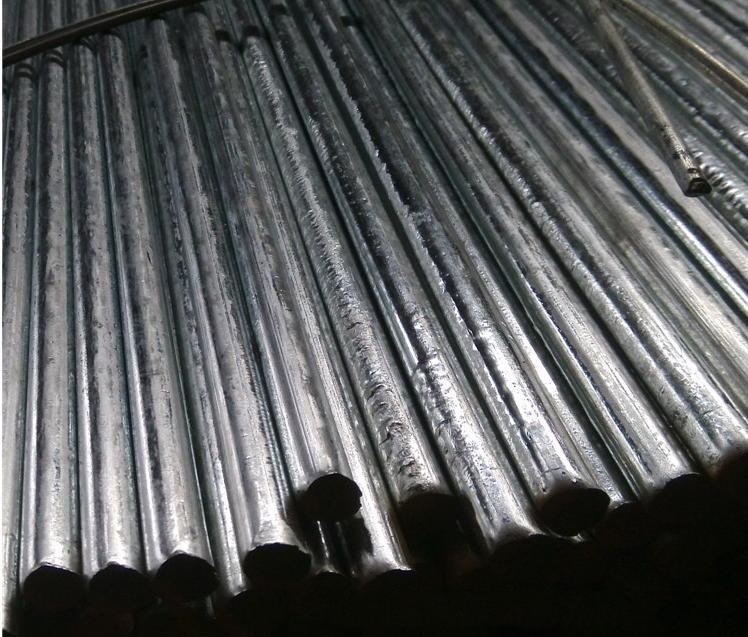 Q235 galvanized steel bar factory direct galvanized bright circle disc round Cape Φ4-22mm large enou