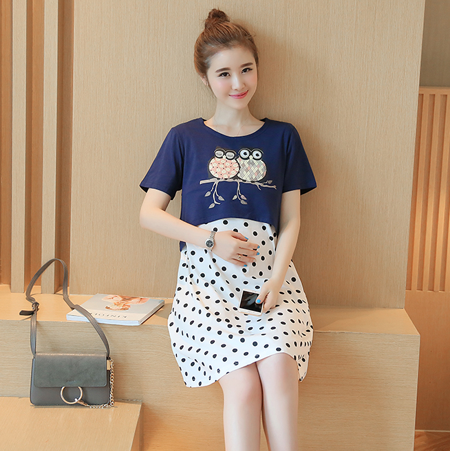 Sign 2016 spring and summer new Women Korean yards loose two-piece women skirt fashion print dress