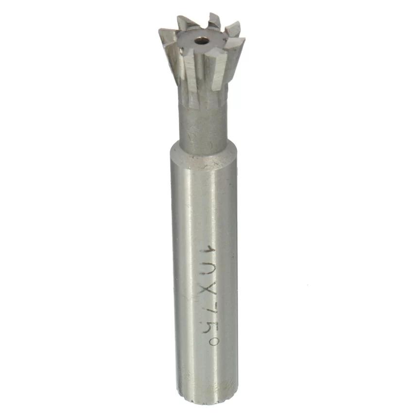 Dao phay   1Pcs 10mm 75° HSS Dovetail Cutter End Mills Straight Shank CNC Bit (Intl)