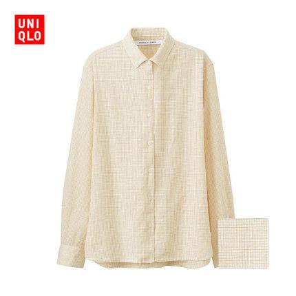 Áo sơ mi Women LM cotton plaid shirt (long sleeves) 176 783 UNIQLO