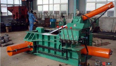 Phế thải kim loại  Central supply of scrap metal baler Y8 / T-2500 type briquetting machine cooler