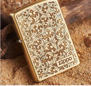 American original authentic zippo lighter copper arabesque limited zopoo genuine windproof Men's Gi