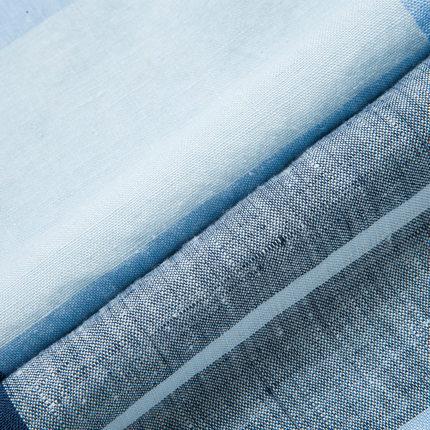 Septwolves short-sleeved shirt summer new men's fashion casual plaid linen short liner genuine 5084