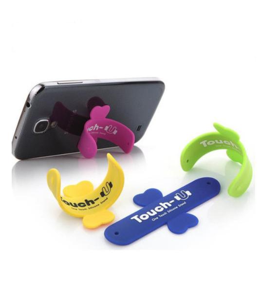 touch-u u u-type phone holder magic stick silicone ring pops LOGO customized advertising